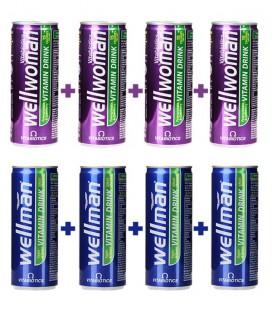 پکیج اقتصادی نوشابه های انرژی زای ولمن و ول وومن | Wellman and Wellwoman vitamin drink