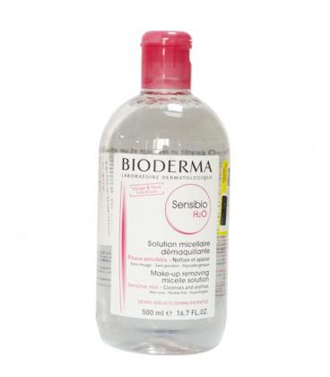 محلول پاک کننده آرایش بایودرما 500 میل مدل Sensibio H2O