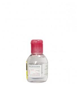 محلول پاک کننده آرایش صورتی بایودرما 100 میل مدل Sensibio H2O