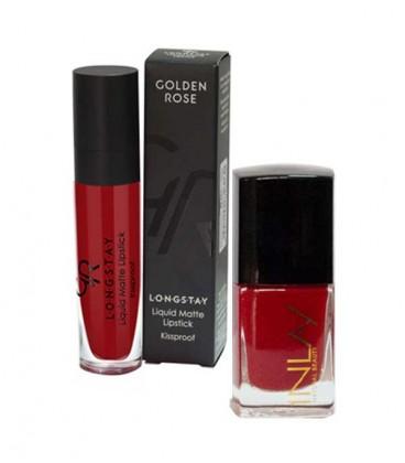 ست لاک و رژ Lady in Red